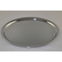 Plain Oval Chrome Tray Large 12 1/2 x 9 3/4""