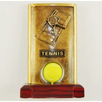 Resin Spinner Tennis Trophy