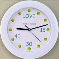 Time For Tennis Wall Clock