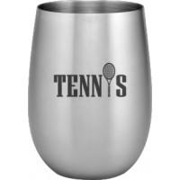Tennis Design Stainless Steel Wine Glass - 20 Oz.