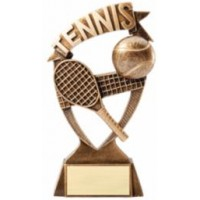 "Tennis Banner Resin Statue 6"""
