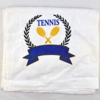 "Tennis Scarf Towel ""Wreath Crest"""