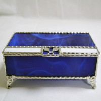 Stained Glass Box (6) Blue