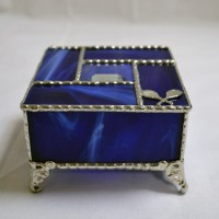 Stained Glass Box (4) Blue