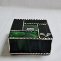 Stained Glass Box (4) Green
