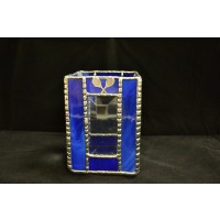 Stained Glass Pencil Box Blue