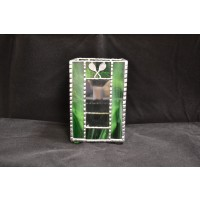 Stained Glass Pencil Box Green