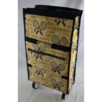 Folding Tote w/Wheels-Tapestry