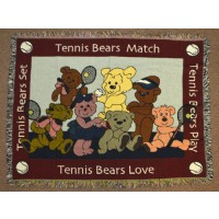Mini Tapestry-Tennis Bears