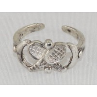 Sterling Silver Tennis Toe Ring