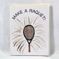 Notes & Envelopes-Make A Racquet-8 cards & envelopes
