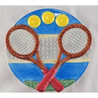 Tennis Plate-Hand Painted