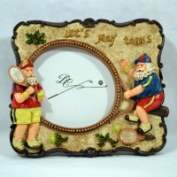 Hand Painted Santa Frame (Picture size: 4-1/2 x 3-3/4)
