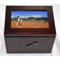 Wood Photo Box-Tennis