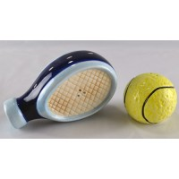 Ceramic Tennis Racquet & Ball Salt & Pepper Shakers