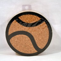 Tennis Ball Cork Coaster Set