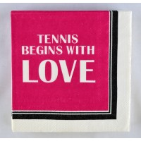 """Tennis Napkin """"Tennis  Begins"""""""