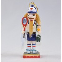 Tennis Nutcracker Ornament/Mantle Piece 5""
