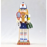 Tennis Nutcracker Mantle Piece 12""