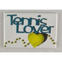 "Tennis Magnet ""Tennis Lover"""