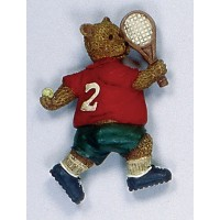 Tennis Bear Magnet-Serving