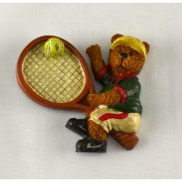 Tennis Bear Magnet-Large Racquet