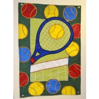 House Flag Racquet/Net/Balls
