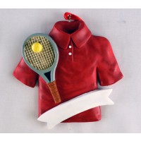 Tennis Ornament Shirt/Racquet/Name