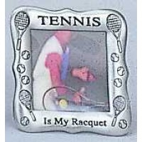 "Pewter Frame ""Tennis Is My Racquet"""