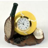 Tennis Clock Poly Res Racquet/Cap