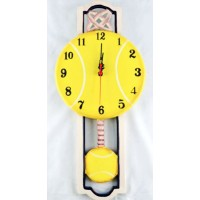 Tennis Wall Clock Hand Painted