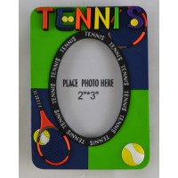 PVC Tennis Picture Frame (Picture size: 2 x 3)