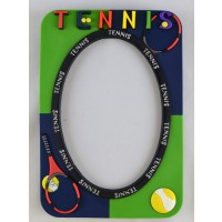 PVC Tennis Picture Frame (Picture size 3 1/2 x 5)