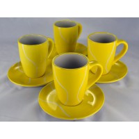 Large  Mug/Saucer Set-Ceramic (4)