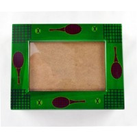 Tennis Design Wood Box-Green