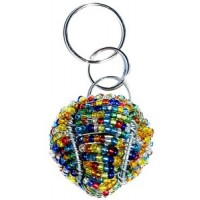 3D Tennis Ball key Chain - Multi Color