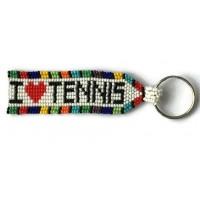 I Love Tennis Key Chain -  Multi Color