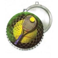 Tennis Medal w/Mylar Gold