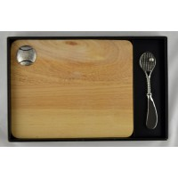 Tennis Wood/Pewter Cutting Board & Spreader