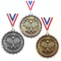 "Tennis Medal - Diamond Cut  2"" diameter"