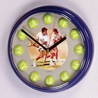 Quartz Clock w/Ball #'s-Blue