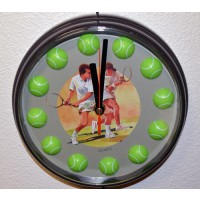 Quartz Clock w/Ball #'s-Brown