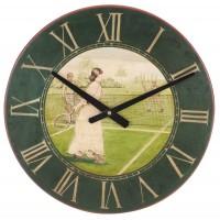 Vintage Lady Tennis Player Wall Clock