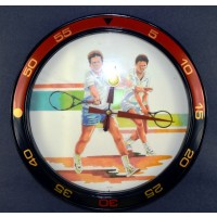 Quartz Wall Clock-Tennis Players