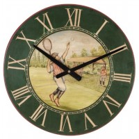 Vintage Tennis Player Wall Clock