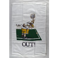 "Clarke Tennis Towel ""Out"""