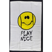 "Clarke Tennis Towel ""Play Nice"""