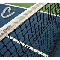 Clarke Tennis Net 3.5 Double W/Cloth Header-Tapered Bottom
