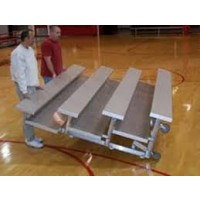 "Tip N' Roll Bleachers 4 Rows 21'x30""x81"" Double Foot Planks"
