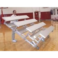 "Tip N' Roll Bleachers 4 Rows 21'x30""x81"" Single Foot Planks"